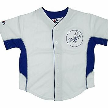 MLB Los Angeles Dodgers Youth Button Down Baseball Jersey (4-20) (Youth Large (14/16))