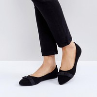 RAID Bow Point Ballet Shoes at asos.com