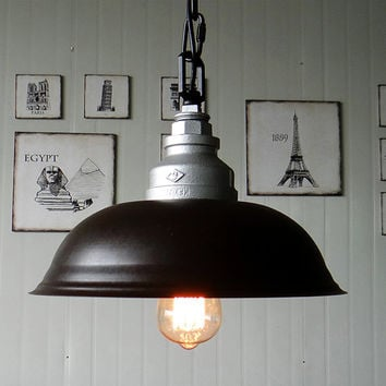 Steel Ceiling Lamp - pendant lamp - edison bulb - vintage style - industrial style - DIY lighting - hanging lamp  - ceiling lamp - lighting