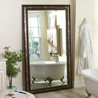 Antique Silver Leaner Mirror | Kirklands