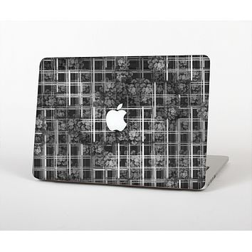 The Grayscale Lattice and Flowers Skin for the Apple MacBook Air 13""