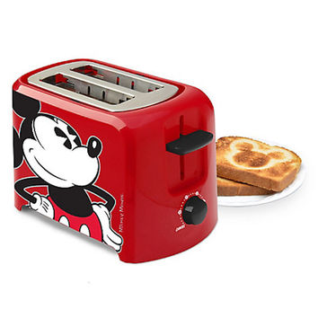 Disney Mickey Mouse 2 Sliced Toaster New with Box