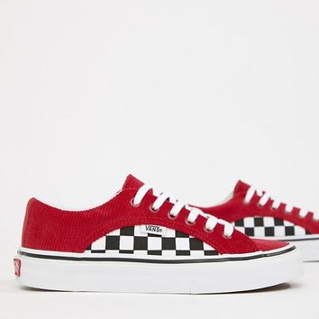Vans Red Corduroy Lampin Trainers at asos.com f3ccf6837541