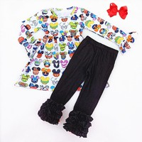 Mickey Head Character Inspired Ruffle Outfit