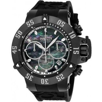 Invicta Men's 22922 Subaqua Quartz Chronograph Black, Antique Silver Dial Watch