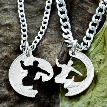 Snowboard Gifts for Guys, Best Friends Necklaces, Snowboarding Jewelry