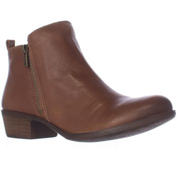 Lucky Brand Basel Side Zip Ankle Boots, Toffee, 7 US / 37 EU