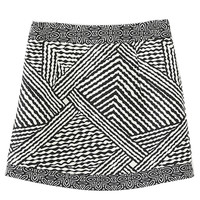 Monochrom Asymmetric Stripe Mini Skirt