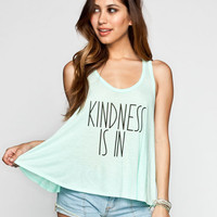 Element Kind Campaign Kindness Is In Womens Tank Mint  In Sizes