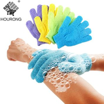 2 Pcs/lot Shower Bath Gloves Exfoliating Wash Skin Spa Massage Body Scrubber Cleaner Randomly Color Bathroom Accessories