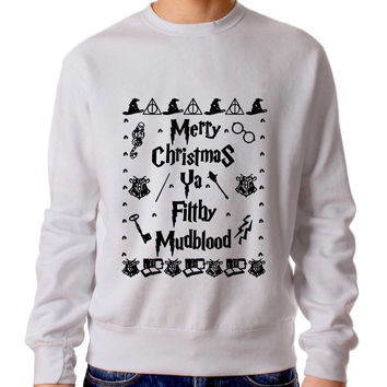 Harry Potter Merry Christmas Ya Filthy Mudblood 1 Sweater Man And Sweater Woman