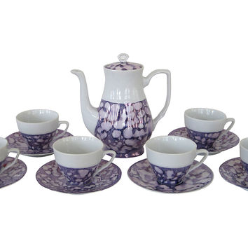 Antique Lusterware Tea Set, Svc for 6