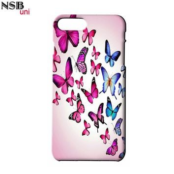 For IPHONE 4 5 5S SE 6 6S 6+7 7+ Beautiful Butterfly Designs of Mobile Phone Shell Covers BTF100 Brand NSBuni Custom-made Cases