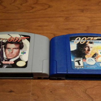 James Bond 007 Nintendo 64 game collection Goldeneye & world is not enough system video games n64