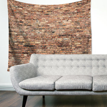 Brick Wall Loft Urban Rustic City Boho Wanderlust Unique Dorm Home Decor Wall Art Tapestry