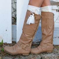 Lone Wolf Camel Studded Zipper Riding Boots