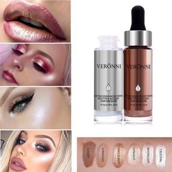 New Style Liquid Highlighter Makeup Face Contour Brighten Waterproof Glitter Concealer Shimmer Highlighters For Sexy Makeup FM88