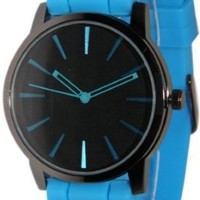 Geneva Light Blue w/ Black Silicone Jelly Watch