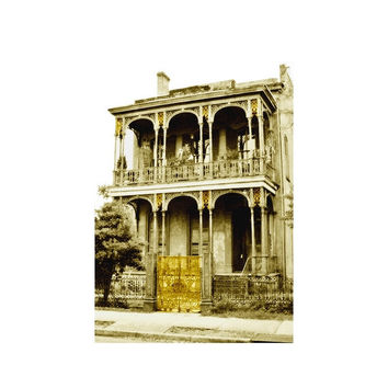 New Orleans Surreal Fine Art Print, Gilding the Lily, Architectural Art, Ready to Frame 4x6 Art Print