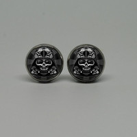 Silver Stud Post Earrings with Star Wars Darth Vader