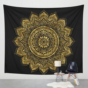 New!! Home Style Tapestry Printed Lotus Bohemia Mandala. Home Decor