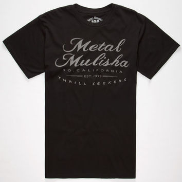 Metal Mulisha Vintage Mens T-Shirt Black  In Sizes