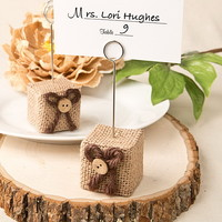 Opentip.com: FashionCraft 5256 Rustic Burlap Place Card / Photo Holder