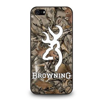 camo browning iphone 5 5s se case cover  number 1
