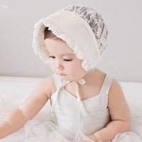 Baby Girls Bonnet Retro Beanie Hat Infant Chapeau Nordic Vintage Lace Toddler Bonnet Kids Christening Baptism Cap 1pc H824