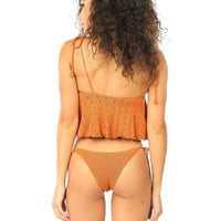Lolli Swim Zotz Cheeky Knit Bottom-Rusty