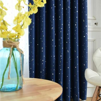 XYZLS Qualified Lucky Stars Blinds Cotinas Blackout Curtains Tulle Curtain for Living Room Bedroom Balcony Window Treatment