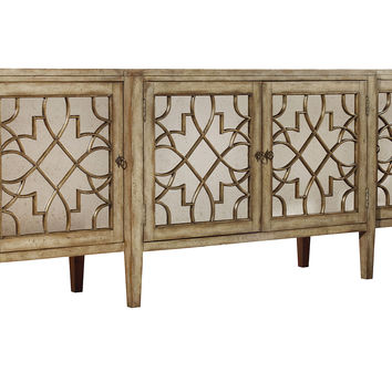"""Sanctuary 105"""" Mirrored Sideboard, Gold, Buffets & Sideboards"""