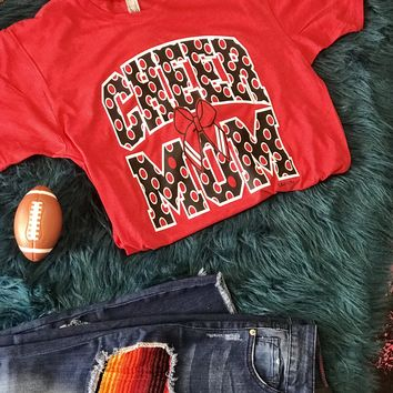 Fall Red & Black Cheer Mom Shirt
