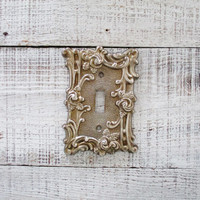 Vintage Light Switch Cover Brass Light Switch Plate Mid Century Light Switch Plate Metal Light Switch Covers Home Improvement Supplies