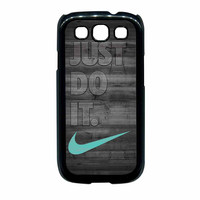 Nike Mint Just Do It Wooden Gray Samsung Galaxy S3 Case