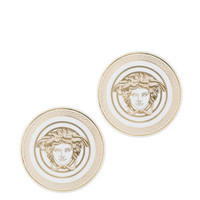 Versace Medusa Gala Porcelain Coasters, Set of 2