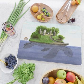 Turtle island Cutting Board by savousepate