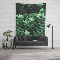 Succulent plants Wall Tapestry by VanessaGF
