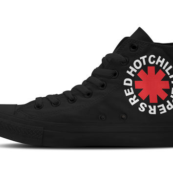 Red Hot Chili Peppers Hi-Top Unisex Trainers