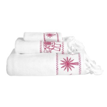 Yaji Pink Towel Collection by John Robshaw
