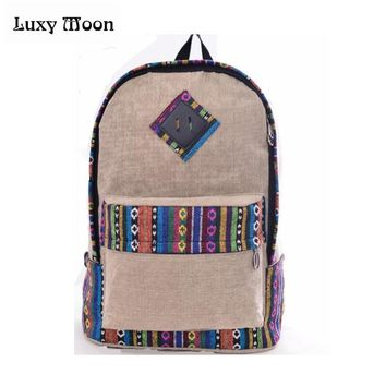 Diamond & Native Pattern Backpack