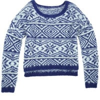 Tribal Eyelash Print Sweater