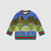 Gucci Night garden print sweatshirt