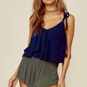 RHEA DOUBLE LAYER CROPPED TOP