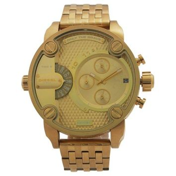 Diesel Men's DZ7287 'Little Daddy' Goldtone Chronograph Bracelet Watch
