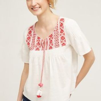 St. Roche Palmarola Peasant Top in Ivory Size: