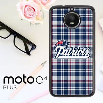 New England Patriots W4879 Motorola Moto E4 Plus Case