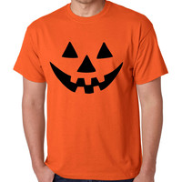 Jack O Lantern pumpkin Orange Men`s T shirt