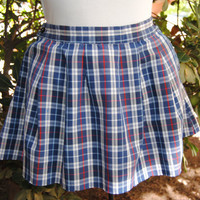 Vintage 1980's Plaid School Girl Mini Skirt