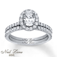 Neil Lane Bridal Set 1 3/4 ct tw Diamonds 14K White Gold